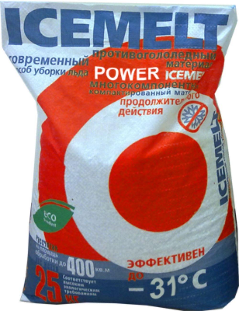 Противогололедный материалIceMeltPower(Зиракс), 25 кг