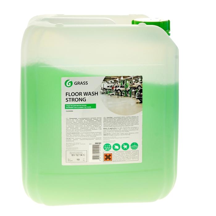 Щелочное средство для мытья пола Grass Floor Wash Strong канистра 10 кг