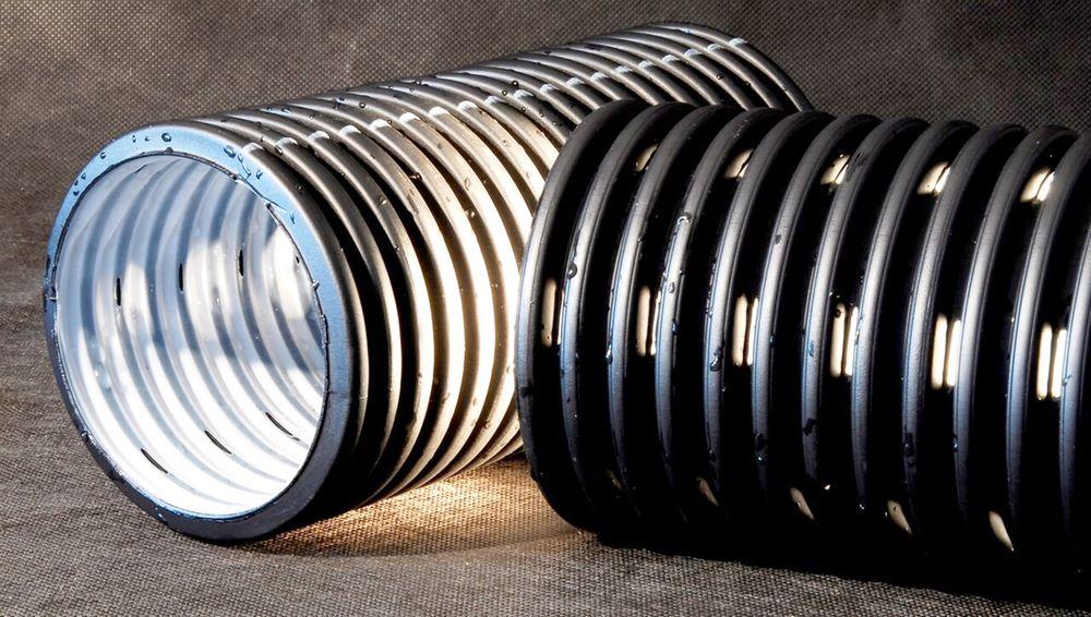Труба гофрированная двустенная с полной перфорацией SN 6-7 диаметр 230 / 200 мм, 1 п.м