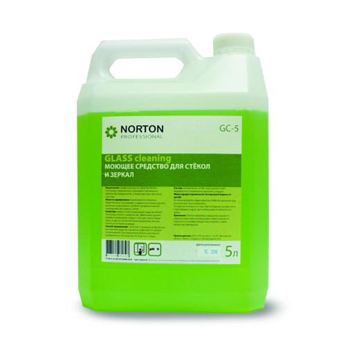 Norton Professional Профессиональное моющее средство для мытья стеклянных и зеркальных поверхностей, в т.ч. хрусталя 5л